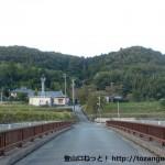 丹生山の町石道(旧参道)入口手前の橋を渡るところ