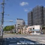 神戸文学館前の交差点