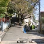 摩耶山の青谷道への入口前の分岐
