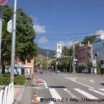六甲登山口の交差点