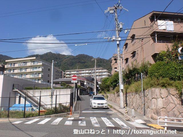 摩耶山の登山口 徳川道ハイキングコース入口にアクセスする方法
