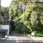 鷹尾山(城山・鷹尾城跡)登り口