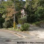 東お多福山・土樋割峠への林道入口