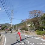 能勢町山田の大原神社前