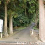 法輪寺前の光明山・妙見山への登山道入口