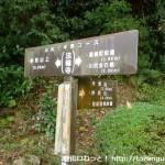 法輪寺前の光明山・妙見山への登山道入口に設置されている道標
