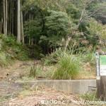 明ヶ田尾山の登山口から登山道を見る