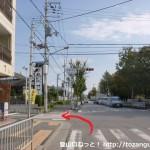 帝釈寺北の交差点