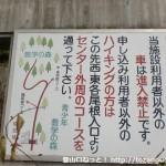 教育の森野外活動センターの入口に設置してあるハイキングコースの案内板
