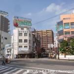 池田駅東口交差点から府道9号線方面