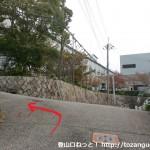 甲子園大学の手前から塩尾寺の方に向かうところ