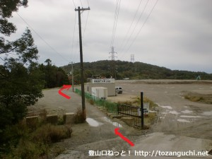 阿武山に行く途中の工事現場