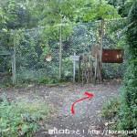 阿武山古墳の手前にある阿武山の登山道入口