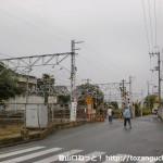 JR山崎駅東側の踏切