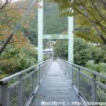 滝畑ダムバス停裏にある吊り橋