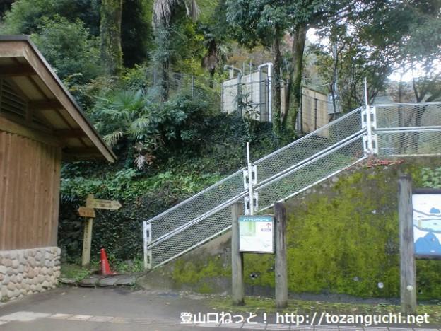 新関屋橋のトイレ裏にある岩湧山(ダイヤモンドトレイル)の登山口
