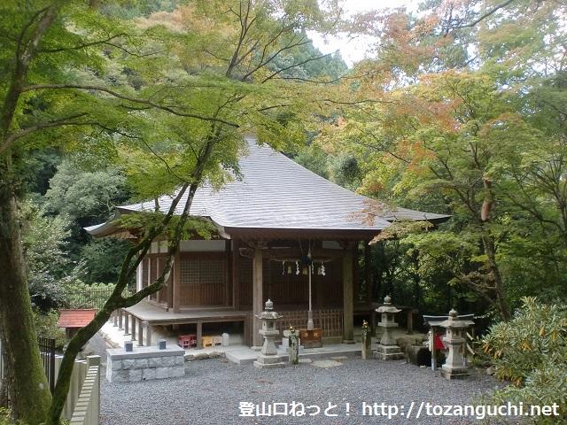 上山・猿子城山の登山口 滝畑ダムと光滝寺にアクセスする方法