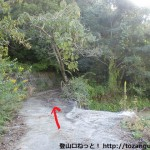 日野の旗倉山登山口の手前の分岐