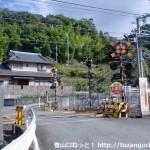 千早口駅南側の踏切
