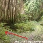 旗尾岳の登山道入口にある小さな橋