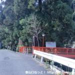 葦谷林道に行く途中の八幡神社前