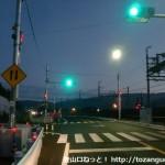 御幸辻駅のすぐ北にある信号のある交差点
