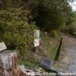 杉村公園の郷土資料館前から丸尾橋へ向かう遊歩道