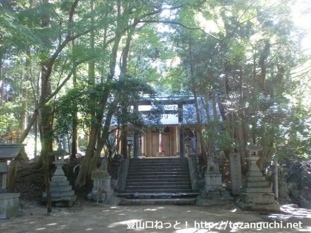 千早城の本丸跡(千早神社本殿)