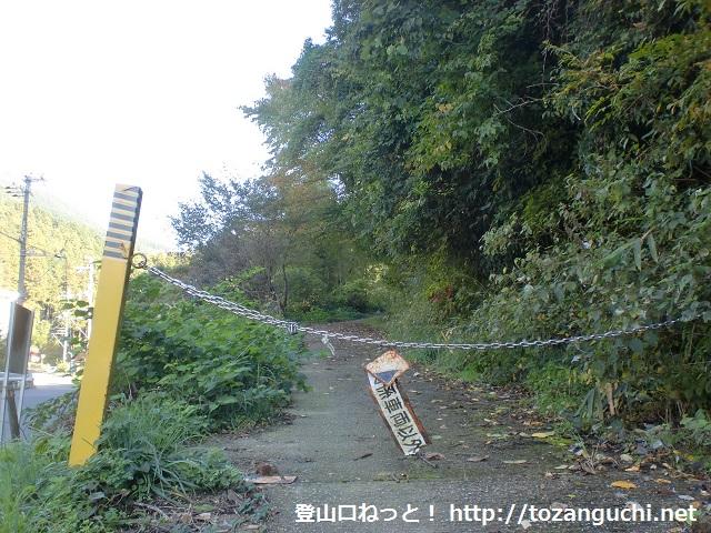 金剛山の登山口 石ブテ尾根(石ブテ林道)にアクセスする方法