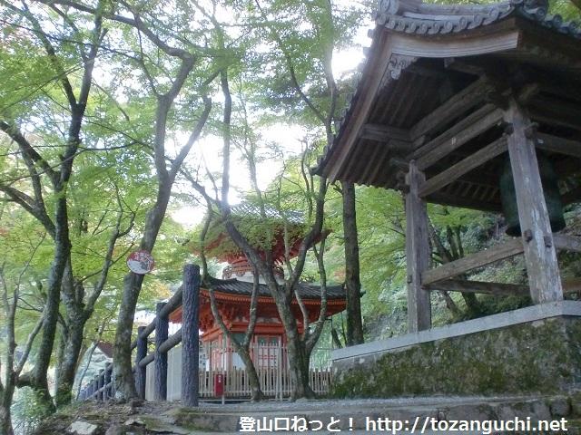 大石ヶ峰の登山口 大威徳寺と丁石道の入口にアクセスする方法