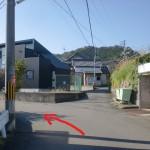 新家の種河神社の南側にある車道