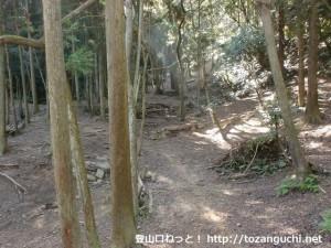 お菊山の登山口にあるマウンテンバイク練習場