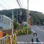 孝子駅南側の踏切前