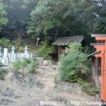高仙寺本堂右手にある高野山と飯盛山の登山口