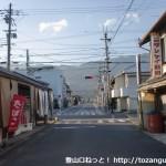 JR妙寺駅前の車道