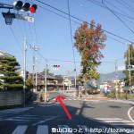 道の駅柿の里くどやま南側の交差点
