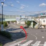 JR九度山駅そばの交差点