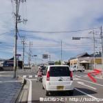 JR紀伊内原駅から国道42号線に出るところ