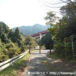 三尾登山口に向かう途中の防獣ゲート