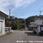 JR和佐駅から県道に出るところ