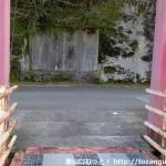 国道424号線の下をくぐって笠松橋を渡り終えたところ