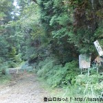 県央の森の鷹ノ巣山登山口