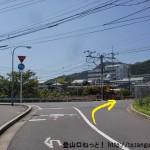 JR玖波駅南側の踏切前