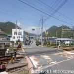 JR玖波駅南側の踏切を渡るところ