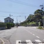 JR玖波駅から錦龍ノ滝に行く途中の交差点
