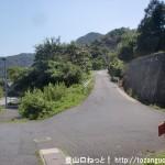 大迫バス停下にある傘山登山口への登り口