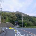 大野浦駅から経小屋山の登山口に行く途中のT字路