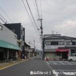 JR大野浦駅の西口から北側に向かう車道