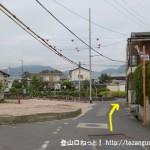 JR廿日市駅から極楽寺山の平良登山口に行く途中の住宅街のみち