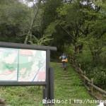 鈴ヶ峰の井口台中学校前側の登山口に設置してある案内板